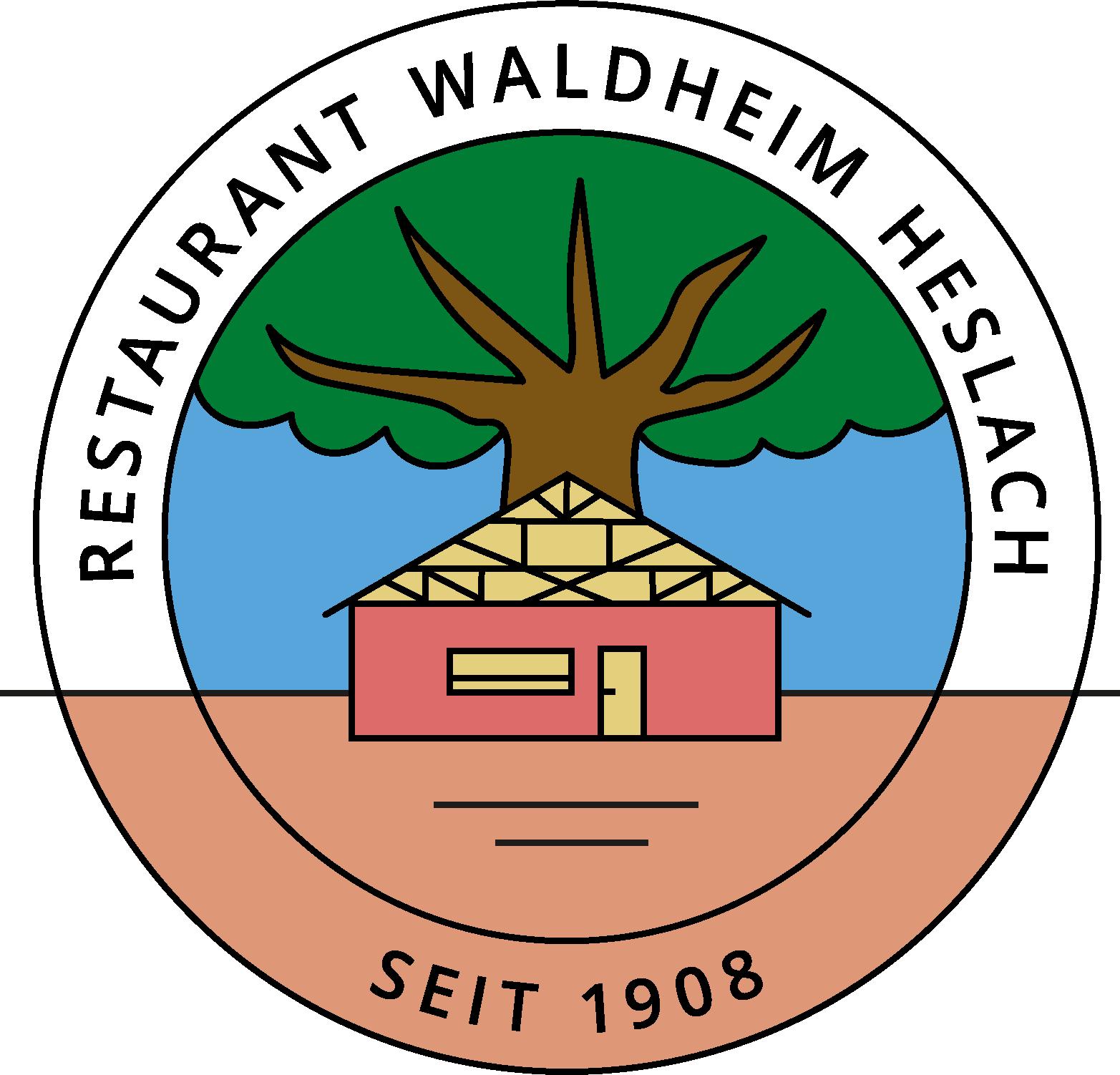 Restaurant Waldheim Heslach seit 1908 Logo Color